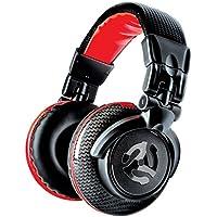 Numark Red Wave Carbon – Auriculares de DJ Ligeros de Alta Calidad y Rango Completo con Diseño Basculante, Transductores de 50 mm, Cable Desmontable, Adaptador de 3,5 mm y Funda Incluidos