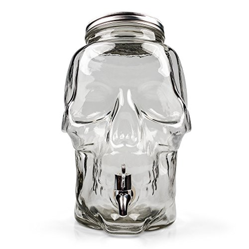 Skull Shaped Glas Getränkespender - 8 Liter - Boxed