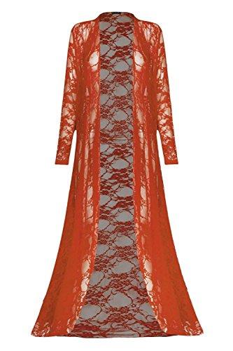 Fashion Star - Gilet - Manches Longues - Femme * Rouille