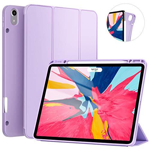 Ztotop Hülle für iPad Pro 12.9 Zoll 2018, Ultradünne Smart Cover Schutzhülle mit Stifthalter, Automatischem Schlaf/Aufwach, Unterstützt Das Aufladen des iPad Pencil, für iPad Pro 12.9 2018 - Lila