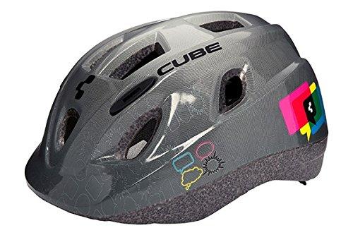 Cube Kids Kinder Fahrrad Helm 48-52cm Youth grau