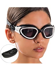 AqtivAqua Wide View Swimming Goggles // Swim Workouts - Open Water // Indoor - Outdoor Line