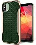 iPhone X Case, Caseology [Apex Series] Slim Protective Dual Layer Textured Cover Secure Grip Geometric Design [Pine Green] for Apple iPhone X (2017)