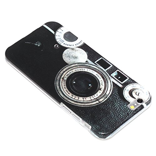 "deinPhone Apple iPhone 6 6S (4.7"") SILIKON CASE Hülle deinPhone Eule Retro Kamera"