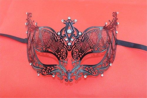 Masken Gesichtsmaske Gesichtsschutz Domino falsche Front Venedig Metall Maske Halloween Make-up Tanz Party Prinzessin bemalte Hochzeitsmaske Rot