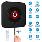 SAWAKE Bluetooth CD Player an der Wand montierbaren mit Fernbedienung / Timing-Funktion / FM-Radio Eingebauter HiFi-Lautsprecher, unterstützt USB / MP3 / SD / 3,5 mm Kopfhörerbuchse/AUX Ein-Ausgang