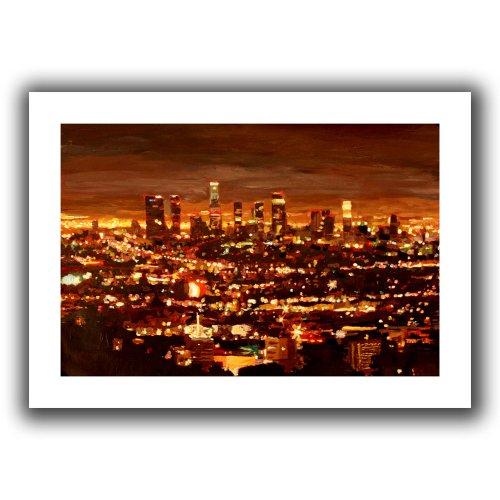 ArtWall Martina und Markus Bleichner City of Angels, ungewickelt, 51 x 71 cm (Windy Angeln City)