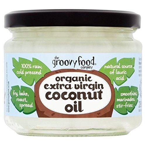 The Groovy Food Co Alimenti Biologici Groovy Olio Extra Vergine Di 283ml Di Cocco