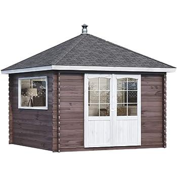 Alpholz Gartenhaus Spa Aus Fichten Holz Gartenhutte Mit Dachpappe
