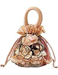 Sac à main à motifs ethniques Sac à bandoulière portatif Petit sac à monnaie mini Khaki