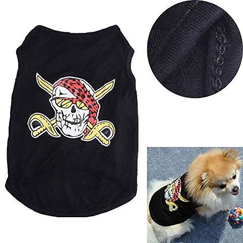 Moolecole Halloween-kühle Hundekleidung Piraten des karibischen (Kühle Superheld Kostüme)