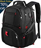 Yorepek RS-A1 Laptop Backpack with USB Charging Port 17inch for Men Women,Black