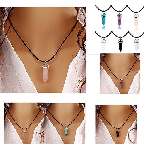 ilovediy-chakra-anhanger-halskette-edelstein-herz-healing-reiki-hexagon-saulen-anhanger-pandent-rose