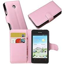 Guran® Funda de Cuero Para Huawei Ascend Y330 Smartphone Tirón de la Cubierta de la Función de Ranura Tarjetas y Efectivo Caso