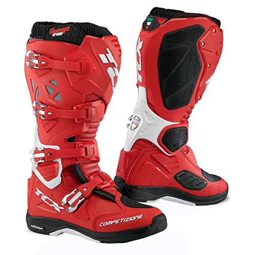 Tcx Comp Off-road-boot (9661 - TCX Comp Evo Michelin Motocross Boots 43 Red Bright Blue Yellow Fluo (UK 9))