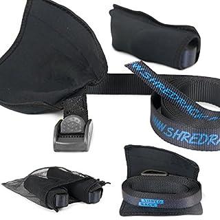 SHRED RACK ShredRack® Spanngurt Premium Zurrgurt für Transport mit Klemmschloss - 2 Stück Setpreis hochwertig (2m Länge, Schwarz, 250 daN)