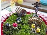 mossfairy 8pcs miniatura Jardín de hadas Dollhouse Villa estilo DIY Kit
