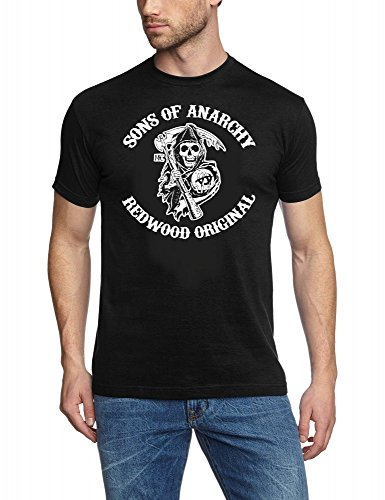 Of Weiß Sons Anarchy-shirt (Sons of Anarchy Redwood SAMCRO ! T-Shirt schwarz-weiss Gr.XXXL)