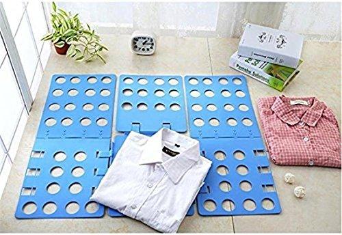 Voguecase Plegable Ropa Junta, Fast Adjustable T-shirts Organizador Carpeta (Azul)