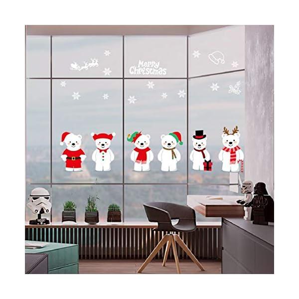 UMIPUBO-Natale-Vetrofanie-Addobbi-Natale-Adesivi-Rimovibile-Adesivi-Murali-Fai-da-te-Finestra-Sticke