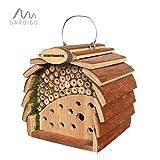 Gardigo Hotel d'insetti per Le api e Coccinelle, Colore Naturale del Legno, la Protezione delle Piante Naturali, risorse Naturali afidi