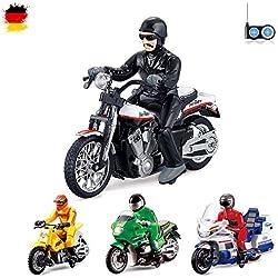 RC teledirigido motocicleta 4modelos distintos Policía, motocross, Chopper, US Motor Bike, de Ready to de Drive, incluye control remoto y integr. Batería,, Nuevo