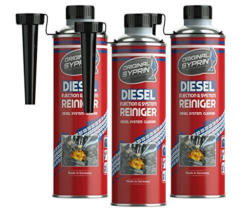 SYPRIN Original Diesel Reiniger 3er Set Diesel-Additiv System-Reiniger Einspritzdüsen-Reiniger Injektor-Reiniger Diesel-Reinigung Dieselmotoren 500 ml