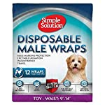 Simple Solution Disposable Dog Diapers for Male Dogs | Male Wraps with Super Absorbent Leak-Proof Fit | Excitable Urination, Incontinence, or Male Marking