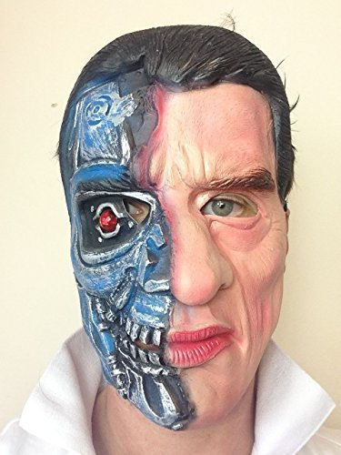 Terminator Látex Máscara Arnold Schwarzenegger Película Fiesta De Disfraces