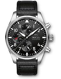 0dd5cccafe51 IWC Piloto Negro automático cronógrafo Mens Reloj iw377709