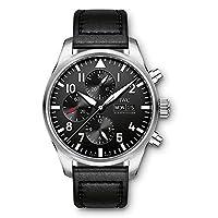 IWC Piloto Negro automático cronógrafo Mens Reloj iw377709
