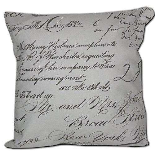 JEMIDI Kissenhülle Vintage Kissenbezug Bezüge Hülle Sofa Zier Deko Kissen Bezug Hüllen (Braun Schrift, 50cm x 50cm)