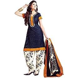 Vaamsi Women's Salwar Suit Dress Material (Deep1017_Blue_One Size)