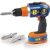Unbekannt Bob der Baumeister Spielzeug Akkuschrauber und Bohrmaschine, elektronisch - Kinder Werkbank-Werkzeuge Handwerker Spielzeug Bohrer