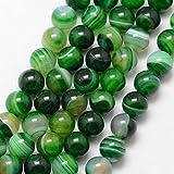 Streifen Achat Perlen Rund Indische Grün 8mm Edelsteine Halbedelstein Edelstein Achat Stein Schmuck Kette Armband Agate Gemstone Beads G725 x2