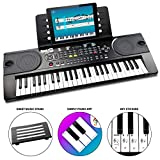 RockJam 49 Key Keyboard Piano with Sheet Music Stand, Piano Note Sticker, Power Supply and Simply Piano Application