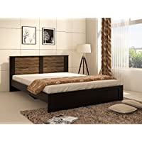 Spacewood Joy Queen Size Bed (Woodpore Finish, Natural Wenge)