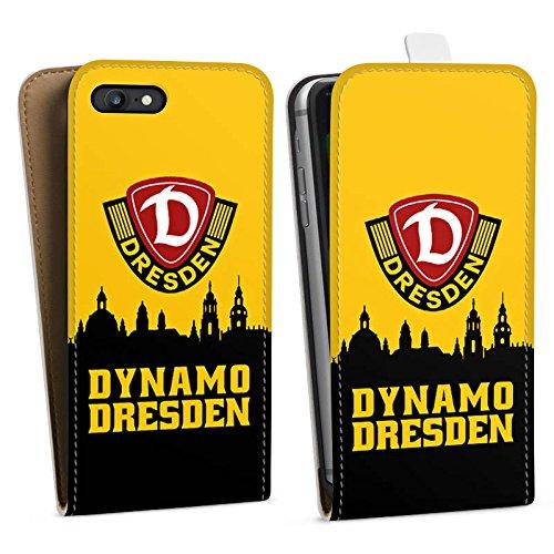 Apple iPhone 7 Hülle Premium Case Cover SG Dynamo Dresden Fanartikel Bundesliga Downflip Tasche weiß