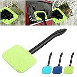 1 cepillo limpiador de limpiaparabrisas para coche, fácil de limpiar, limpiador de cristal, cepillo de limpieza práctico o de tono. 39x13x9cm verde