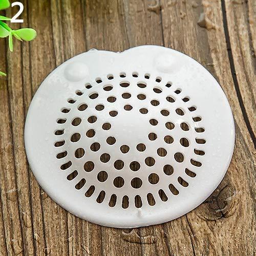 happyhouse009 Silikon Abflusssieb Filter, Bad küche becken ablauf haar stopper filter net silikon waschbecken sieb für Küche, Bad und Wäsche, Bodenablauf S