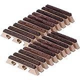 yibuy madera color madera de arce y ébano de 6cuerdas Banjo Puente Conjunto de 20