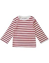 Dotty Dungarees Organic Red Breton - Camiseta de Rayas