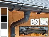 Dachrinnen/ Regenrinnen Set | viereckiges Dach (4 Seiten) | Extra100 | in anthrazit, weiß, braun oder schwarz! (Umriss bis 21.00 m (Kompl. Set), Anthrazit)