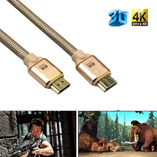 Jamicy® Premium Geflochtenes Hochwertiges HDMI Kabel V2.0 4K @ 60Hz 3D 1080P - HDTV LCD LED -
