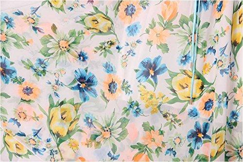 Kaxuyiiy Donne Boemia estate fiore farfalla partito spiaggia elastico in vita maxi gonna a pieghe lunga Long Skirt Fiore della pesca