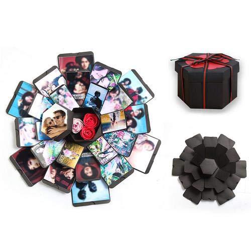 Kreative Überraschung Box Explosions-Box DIY Faltendes Fotoalbum,Geburtstag Jahrestag Valentine Hochzeit Geschenk, für Hochzeit, Muttertag, DIY Geschenk