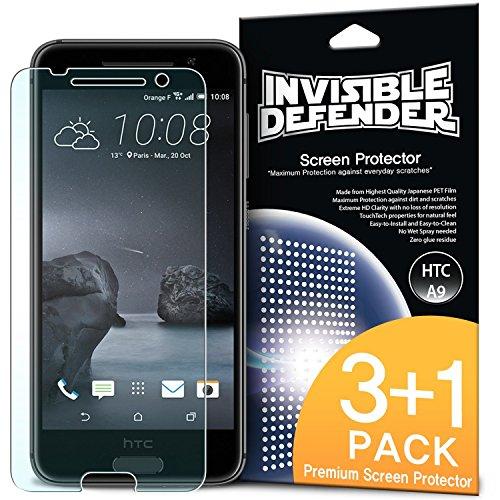 Ringke Invisible Defender [4 Stück] Kompatibel mit HTC One A9 Folie [3 + 1 Gratis] Maximale HD Klarheit HTC One A9 Displayschutz Perfekte Touch Präzision für HTC One A9 Schutzfolie Htc Touch Defender Case