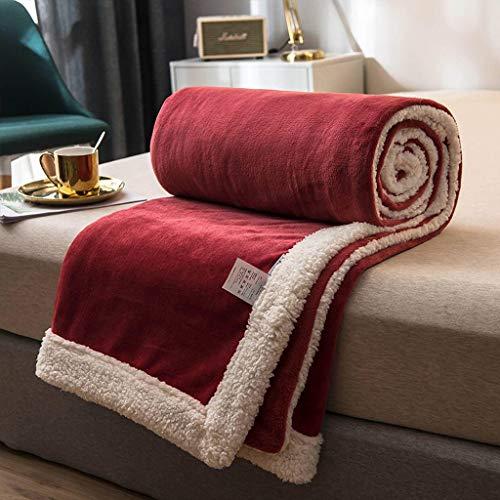 Vlies Decke, Kuschelig Weichem Einfarbig Verdicken Kuscheldecke, Flanell Warm Halten Abwaschbar, Für Sofadecke, Heimgebrauch, Schlafzimmer-D-180×200cm