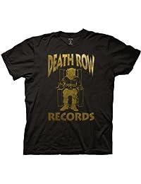 Death Row Records Foil Logo Adult Black T-shirt