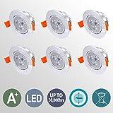 Hengda® LED Einbauleuchte Einbaustrahler Inkl. 6 x 3W LED 230V
